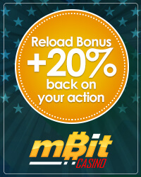 Reload Bonus + 20% back on your action from mBit